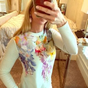 Tory Burch Spring Summer Floral Sweater XS